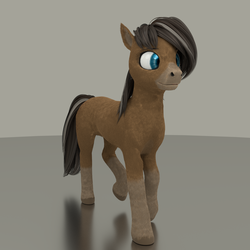 Size: 2560x2560 | Tagged: 3d, artist:gammahoof, blender, blender cycles, earth pony, female, oc, oc:cinnamon spice, oc only, pony, safe, solo