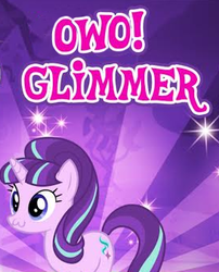 Size: 273x338 | Tagged: cropped, cute, female, gameloft, mare, meme, owo, pony, safe, solo, starlight glimmer, sunburst background, unicorn, wow! glimmer