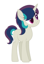 Size: 744x1074 | Tagged: artist:palerose522, artist:teepew, base used, blank flank, female, magical lesbian spawn, mare, oc, oc:mixed string, oc only, offspring, parent:octavia melody, parents:scratchtavia, parent:vinyl scratch, pony, safe, simple background, solo, transparent background, unicorn