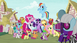 Size: 1280x720 | Tagged: alicorn, apple bloom, applejack, big macintosh, book, camera, carrot cake, colt, cup cake, cutie mark crusaders, dragon, earth pony, female, filly, fluttershy, granny smith, intro, male, mane seven, mane six, mare, mayor mare, opening, pegasus, photo finish, pinkie pie, pony, ponyville, quill, rainbow dash, rarity, safe, scootaloo, screencap, snails, snips, spike, stallion, sweetie belle, theme song, twilight sparkle, twilight sparkle (alicorn), unicorn, zebra