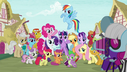 Size: 1280x720 | Tagged: alicorn, apple bloom, applejack, big macintosh, book, camera, carrot cake, colt, cup cake, cutie mark, cutie mark crusaders, dragon, earth pony, female, filly, fluttershy, granny smith, intro, male, mane seven, mane six, mare, mayor mare, opening, pegasus, photo finish, pinkie pie, pony, ponyville, quill, rainbow dash, rarity, safe, scootaloo, screencap, season 6, snails, snips, spike, stallion, starlight glimmer, sweetie belle, the cmc's cutie marks, theme song, twilight sparkle, twilight sparkle (alicorn), unicorn, zebra