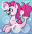 Size: 495x529 | Tagged: artist:jellyys, bubble, earth pony, ocean, pinkie pie, safe, seaponified, seapony (g4), seapony pinkie pie, smiling, species swap, underwater, water