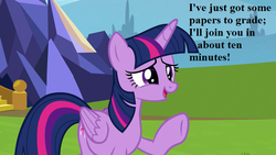 Size: 800x450 | Tagged: alicorn, cute, edit, edited screencap, father knows beast, offscreen character, safe, screencap, smiling, solo, speech, twiabetes, twilight's castle, twilight sparkle, twilight sparkle (alicorn)