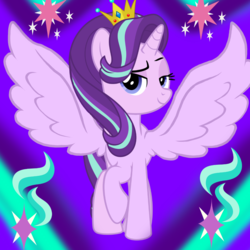 Size: 1000x1000 | Tagged: alicorn, alicornified, artist:kysss90, artist needed, edit, editor:katya, pony, race swap, safe, starlicorn, starlight glimmer, vector, wings, xk-class end-of-the-world scenario