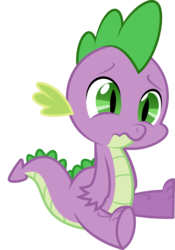 Size: 1600x2280 | Tagged: artist:cloudyglow, dragon, friendship is magic, male, sad, safe, simple background, sitting, solo, spike, transparent background, vector