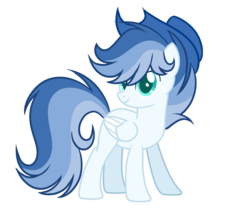 Size: 1600x1368 | Tagged: artist:nighty-drawz, artist:thesmall-artist, hat, male, oc, oc:blue, pegasus, pony, safe, simple background, solo, stallion, transparent background