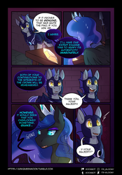 Size: 2298x3298 | Tagged: artist:its-gloomy, comic, night guard, nightmare moon, oc, oc:quake, pony, safe, tumblr:ask queen moon
