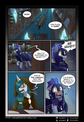 Size: 2298x3298 | Tagged: artist:its-gloomy, comic, night guard, oc, oc:bright eyes, oc:quake, pony, safe, tumblr:ask queen moon