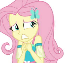 Size: 465x449 | Tagged: safe, edit, edited screencap, editor:ilove-mlp18, screencap, fluttershy, costume conundrum, costume conundrum: sunset shimmer, equestria girls, equestria girls series, spoiler:choose your own ending (season 2), spoiler:eqg series (season 2), background removed, cute, geode of fauna, magical geodes, nervous, shyabetes, simple background, solo, transparent background