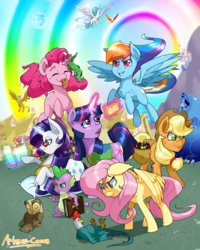 Size: 2000x2500 | Tagged: apple basket, apple bloom, applejack, artist:arteses-canvas, big macintosh, book of harmony, cart, cockatrice, cutie mark crusaders, distressed, earth pony, female, fluttershy, gala ticket, gilda, glowing horn, gummy, horn, magic, mane seven, mane six, mare, mare in the moon, measuring tape, moon, owlowiscious, pegasus, philomena, pillow, pinkie pie, pinkie sense, pony, ponyville, princess celestia, rainbow dash, rarity, saddle basket, safe, scootaloo, season 1, spike, spitty pie, spread wings, stare, sweetie belle, the stare, ticket, trixie, twilight sparkle, unicorn, unicorn twilight, ursa minor, wings, winter wrap up vest, zecora