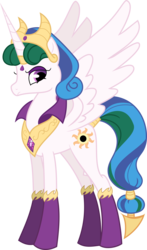 Size: 4964x8441 | Tagged: absurd res, alicorn, artist:digimonlover101, cutie mark, evil, female, gameloft, mare, mobile game, pony, princess celestia, safe, simple background, solo, transparent background, vector