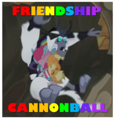 Size: 616x655 | Tagged: antagonist, applejack, armor, canterlot castle, caption, crown, edit, edited screencap, eyes closed, fangs, fluttershy, friendship cannonball, helmet, image macro, jewelry, mane six, meme, my little pony: the movie, oof, pinkie pie, rainbow colors, rainbow dash, rarity, regalia, safe, screencap, spike, storm king, surprised, text, twilight sparkle, yeti