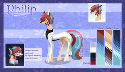 Size: 5200x3000 | Tagged: artist:sugaryicecreammlp, clothes, earth pony, lab coat, male, oc, oc:philip, pony, reference sheet, safe, solo, stallion, sweater, turtleneck