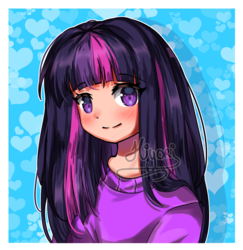 Size: 881x907 | Tagged: alicorn, anime, anime style, artist:hiyori-yamada, background, background human, equestria girls, girly, human, humanized, safe, solo, twilight sparkle, twilight sparkle (alicorn)