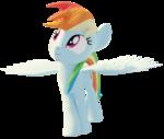 Size: 2115x1788 | Tagged: safe, artist:ashwilljones, rainbow dash, pony, 3d, blender, cutout