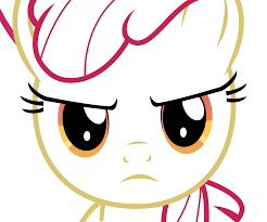 Size: 246x205 | Tagged: angry, apple bloom, apple bloom is not amused, artist needed, female, filly, just for sidekicks, looking at you, outlines only, pony, safe, solo, unamused