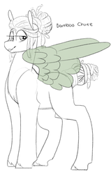 Size: 667x1049 | Tagged: artist:liefsong, dreadlocks, oc, oc:bamboo chute, oc only, pegasus, safe