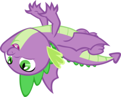 Size: 8081x6455 | Tagged: artist:memnoch, claws, dragon, dragon dropped, safe, simple background, solo, spike, spoiler:s09e19, tail, toes, transparent background, vector, winged spike