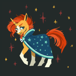 Size: 800x800 | Tagged: artist:weird--fish, pony, safe, solo, sunburst, unicorn