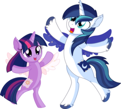 Size: 7696x6930 | Tagged: safe, artist:cyanlightning, princess celestia, princess luna, shining armor, twilight sparkle, alicorn, pony, unicorn, .svg available, absurd resolution, bipedal, brother and sister, brotherly love, clothes, cosplay, costume, cute, dressup, duo, ear fluff, equestria's best big brother, fake cutie mark, fake wings, female, filly, filly twilight sparkle, male, open mouth, paper wings, pretending, rearing, shining adorable, sibling, sibling love, siblings, simple background, smiling, sparkle siblings, spread wings, stallion, standing, transparent background, twiabetes, twilight wants to be a princess, unicorn twilight, unshorn fetlocks, vector, wings, younger