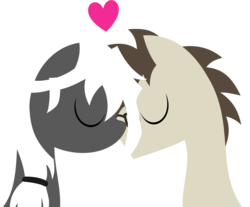 Size: 2422x2009 | Tagged: artist:zacatron94, heart, lineless, oc, oc:blank novel, oc:captain white, oc x oc, pony, safe, shipping, simple background, straight, transparent background, vector, whitenovel