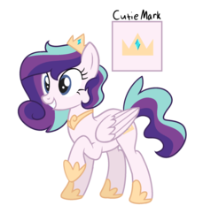 Size: 1543x1682 | Tagged: artist:starling-sentry-yt, female, mare, oc, offspring, parent:princess cadance, parent:shining armor, parents:shiningcadance, pegasus, pony, safe, simple background, solo, transparent background