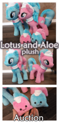 Size: 700x1442 | Tagged: advertisement, aloe, artist:kuroran, female, lotus blossom, plushie, pony, safe