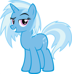 Size: 1920x1988 | Tagged: artist:moongazeponies, dj pon-3, edit, fusion, grin, looking at you, palette swap, ponyar fusion, recolor, safe, simple background, smiling, transparent background, trixie, unicorn, vector, vector edit, vinyl scratch