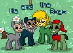Size: 446x323 | Tagged: safe, pony, pony town, electro, falcon (marvel comics), green goblin, me and the boys, meme, rhino (marvel)