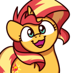 Size: 1000x1000 | Tagged: :3, artist:sugar morning, bust, cute, faic, female, looking at you, mare, pony, safe, shimmerbetes, simple background, smiling, solo, sugar morning's smiling ponies, sunset shimmer, transparent background, unicorn