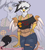 Size: 2500x2800 | Tagged: safe, artist:pinktabico, oc, oc only, oc:ginger feathershy, anthro, griffon, beauty mark, belly button, bra strap, clothes, colored wings, dragon ball, eyebrow piercing, fishnets, griffon oc, hand on hip, multicolored wings, panties, panty line, piercing, short shirt, tail, thong, torn clothes, underwear, wings, zoom layer