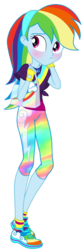 Size: 678x2048 | Tagged: artist:sapphiregamgee, artist:superbobiann101, clothes, cropped, dead source, edit, equestria girls, equestria girls series, female, geode of super speed, leggings, magical geodes, pants, rainbow dash, safe, shoes, simple background, solo, transparent background