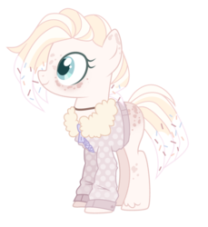Size: 2611x2851 | Tagged: artist:nightmarye, base used, clothes, earth pony, female, high res, jacket, mare, oc, oc:sprink, pony, safe, simple background, solo, transparent background