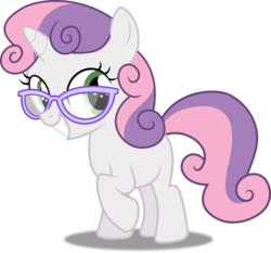 Size: 3214x3000 | Tagged: artist:dashiesparkle, artist:slb94, glasses, pony, safe, simple background, sweetie belle, transparent background, unicorn, vector