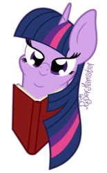 Size: 1400x2254 | Tagged: alicorn, artist:puperhamster, book, bust, pony, portrait, reading, safe, solo, twilight sparkle