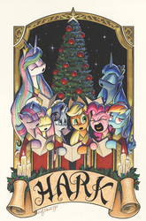 Size: 1186x1800 | Tagged: alicorn, applejack, artist:andypriceart, christmas, christmas tree, cover, fluttershy, holiday, idw, mane six, pinkie pie, princess celestia, princess luna, rainbow dash, rarity, safe, spoiler:comic, spoiler:comicholiday2019, tree, twilight sparkle, twilight sparkle (alicorn)
