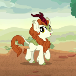 Size: 1080x1080 | Tagged: autumn blaze, cropped, kirin, safe, screencap, solo, sounds of silence