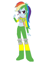 Size: 448x572 | Tagged: artist:eli-j-brony, artist:selenaede, base used, bionicle, clothes, cosplay, costume, crossover, eqg promo pose set, equestria girls, lego, lewa, rainbow dash, safe