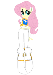 Size: 417x593 | Tagged: artist:eli-j-brony, artist:selenaede, base used, bionicle, clothes, cosplay, costume, crossover, eqg promo pose set, equestria girls, fluttershy, kopaka, lego, safe