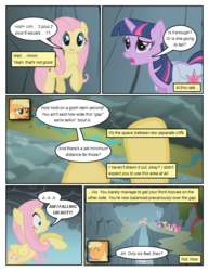 Size: 612x792 | Tagged: acrophobia, applejack, artist:newbiespud, comic, comic:friendship is dragons, dialogue, earth pony, edit, edited screencap, female, fluttershy, freckles, hat, looking down, mane six, mare, mountain, pegasus, pinkie pie, pony, rainbow dash, rarity, rearing, river, saddle bag, safe, screencap, smiling, smoke, twilight sparkle, unicorn, unicorn twilight