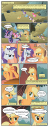 Size: 612x1556 | Tagged: applejack, artist:newbiespud, comic, comic:friendship is dragons, dialogue, earth pony, female, fluttershy, freckles, frown, hat, looking up, mane six, mare, pegasus, pinkie pie, pony, rainbow dash, rarity, sad, saddle bag, safe, sigh, twilight sparkle, unicorn, unicorn twilight