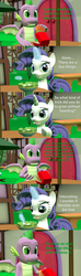 Size: 1920x6480 | Tagged: 3d, artist:papadragon69, burger, cheeseburger, choose your own adventure, comic, comic:spike's cyosa, dragon, female, food, hamburger, hay burger, lyra heartstrings, male, older, older spike, rarity, restaurant, safe, salad, shipping, source filmmaker, sparity, spike, straight, teenager, teenage spike, winged spike
