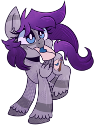 Size: 669x875 | Tagged: artist:loopdalamb, bat pony, blue, crush, cute, female, fullbody, gray, letter, loopyocsgrayscale, love, love letters, oc, oc:grayscale, oc:gray scale, pegasus, pony, purple, safe, solo, stripes