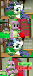 Size: 1920x4320 | Tagged: 3d, artist:papadragon69, burger, cheeseburger, choice, choose your own adventure, comic, comic:spike's cyosa, dragon, female, food, hamburger, hay burger, lyra heartstrings, male, older, older spike, rarity, restaurant, safe, salad, shipping, source filmmaker, sparity, spike, straight, teenager, teenage spike, winged spike