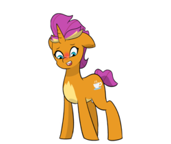 Size: 5256x4416 | Tagged: artist:chedx, blushing, comic:claws and hooves, cup, cutie mark, dragon to pony, female, filly, horn, not scootaloo, ponified, ponified smolder, pony, safe, shocked, smolder, species swap, stressed, teacup, unicorn