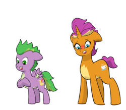 Size: 5668x4938 | Tagged: artist:chedx, blushing, comic:claws and hooves, cup, cutie mark, female, filly, foal, not scootaloo, pegasus, ponified, ponified smolder, ponified spike, pony, quill, safe, scroll, shocked, smolder, species swap, spike, stressed, teacup, unicorn