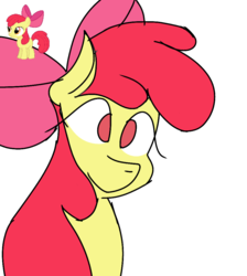 Size: 894x1000 | Tagged: apple bloom, bow, bust, cute, earth pony, pony, safe, solo