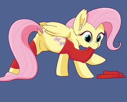 Size: 10000x8000 | Tagged: absurd res, artist:chedx, butt, clothes, female, fluttershy, legs in air, pegasus, plot, pony, safe, simple background, solo, stockings, thigh highs