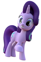 Size: 800x1200 | Tagged: 3d, artist:glimmerliner, blender, grin, pony, safe, smiling, solo, starlight glimmer, unicorn