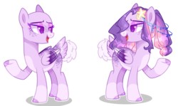 Size: 4160x2472 | Tagged: artist:flora-glassyt, bald, base usd, female, magical lesbian spawn, mare, oc, oc:night star, offspring, parent:princess luna, parents:twiluna, parent:twilight sparkle, pegasus, pony, safe, simple background, solo, transparent background